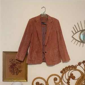 Vintage rose corduroy blazer